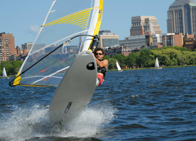 Windsurfing on the Charles